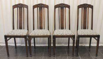4-st�hle-jugendstil-um-1900-10-eiche-massiv-2356
