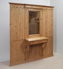 grosse-kiefernholz-gr�nderzeit-garderobe-mit-spiegel-ga-3676